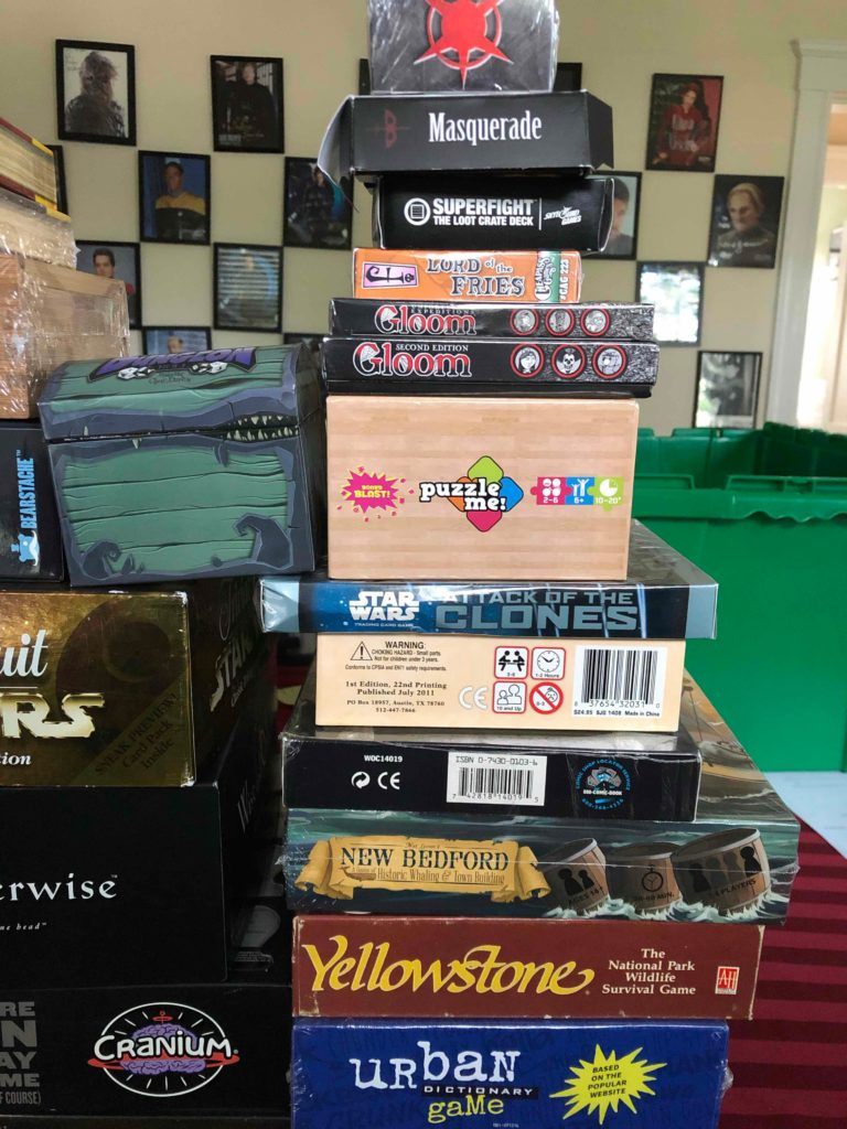 Another stack of board games