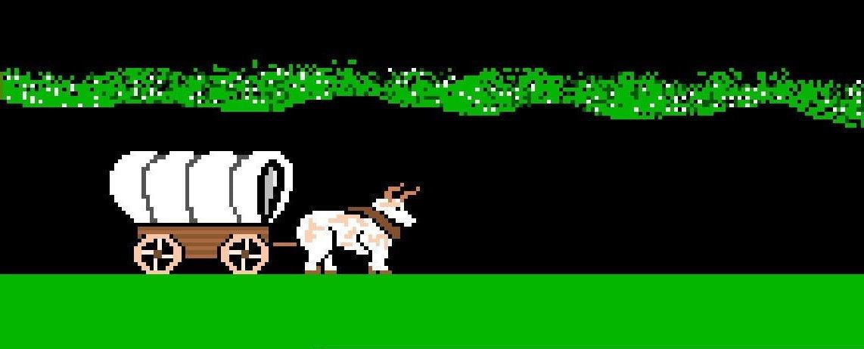 Screenshot from Apple II game Oregon Trail by MECC