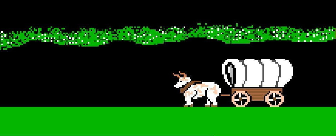 Screenshot from Apple II game Oregon Trail by MECC