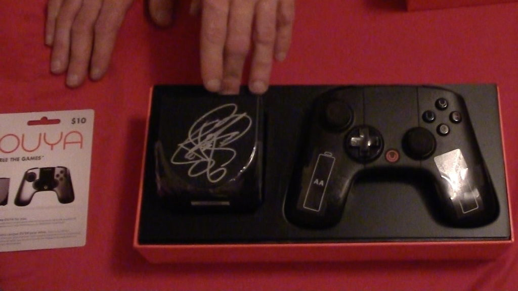 Ouya console autographed by LeVar Burton