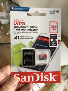 256 GB SanDisk Ultra microSDXC UHS-I Card with Adapter