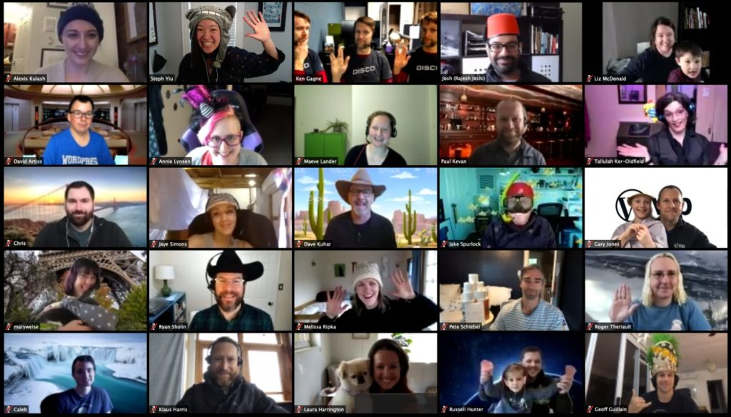 A five-by-five grid of headshots in a Zoom video conference