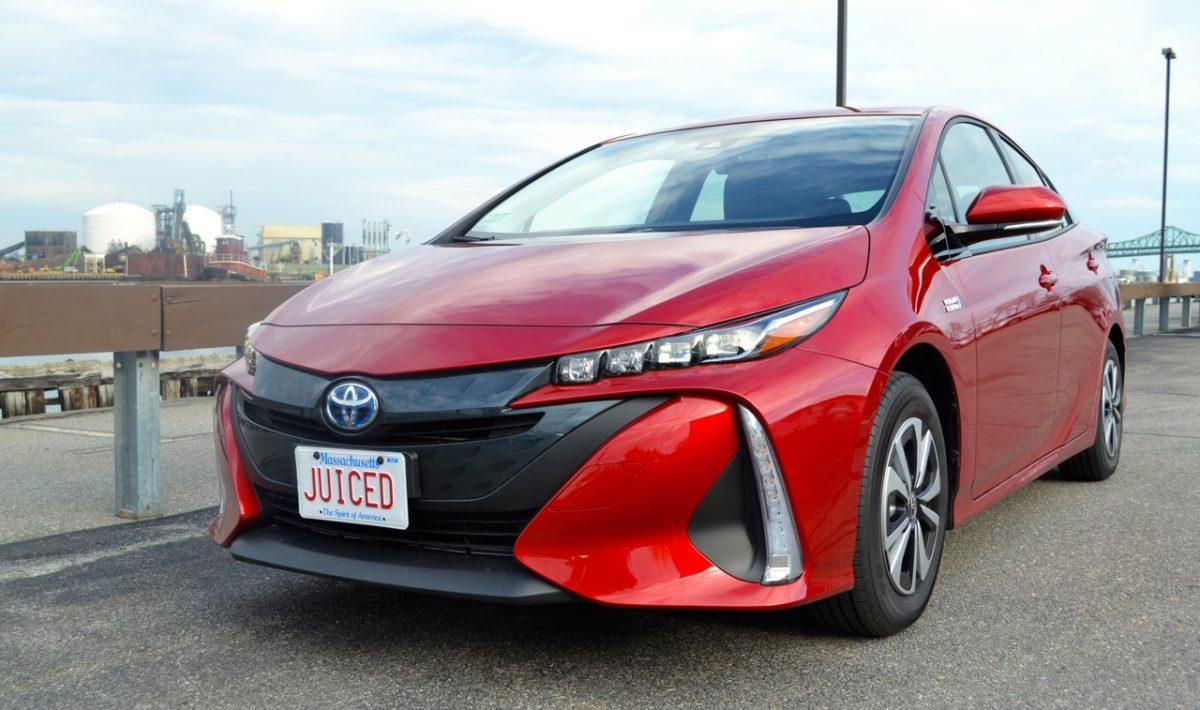 Red Toyota Prius Prime