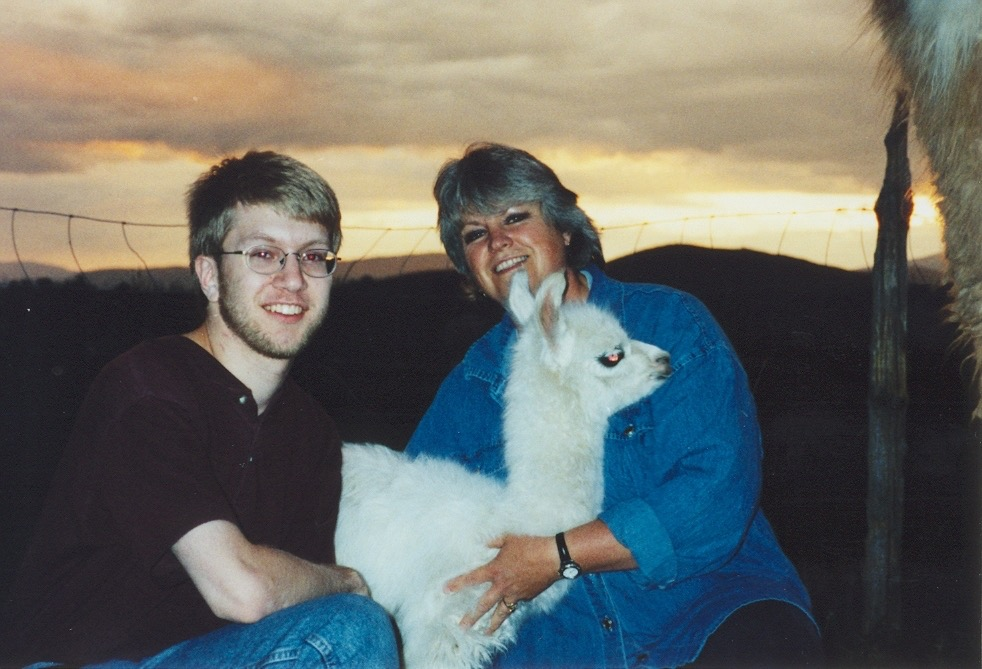 Ken with Christina Lilienthal and a baby llama