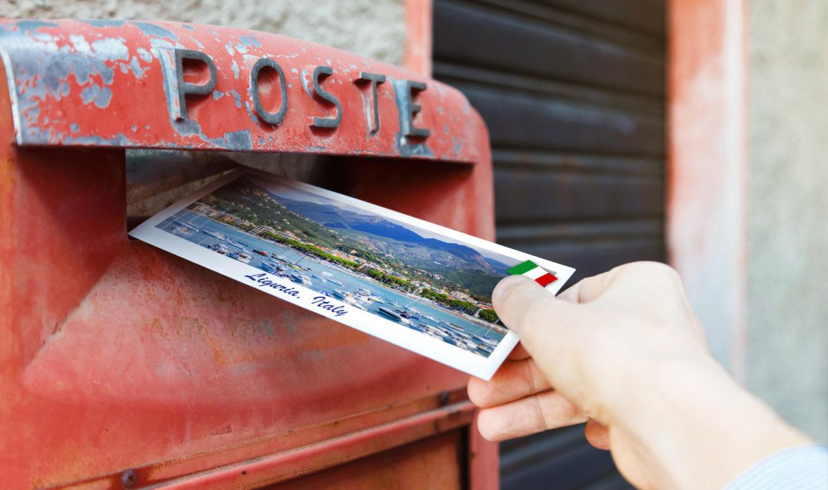 Postcard in mailbox