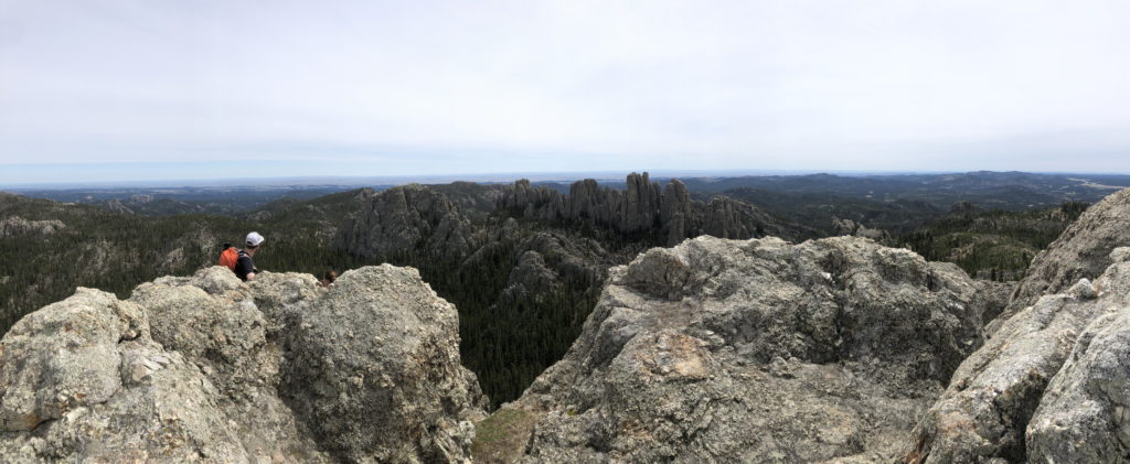 Panoramic of Custer State Park from Little Devils Tower