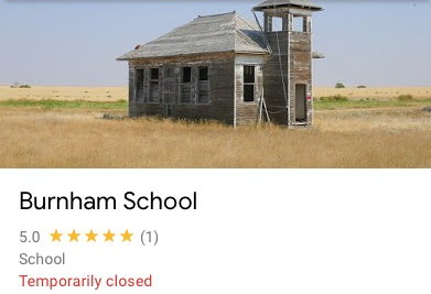 "A photo of the school with the caption ""Temporarily closed"""