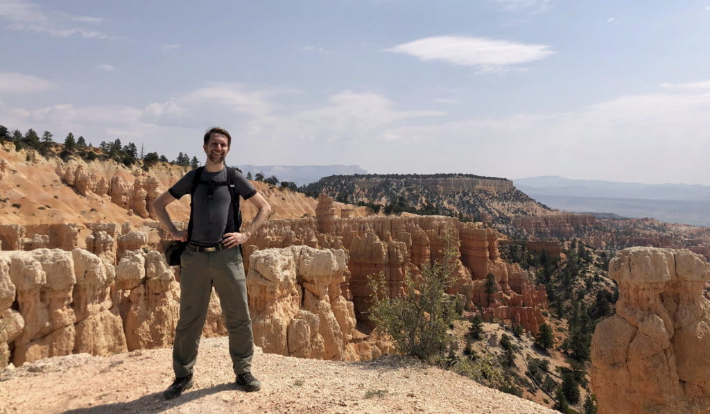Ken standing on the edge of Bryce Canyon in Utah