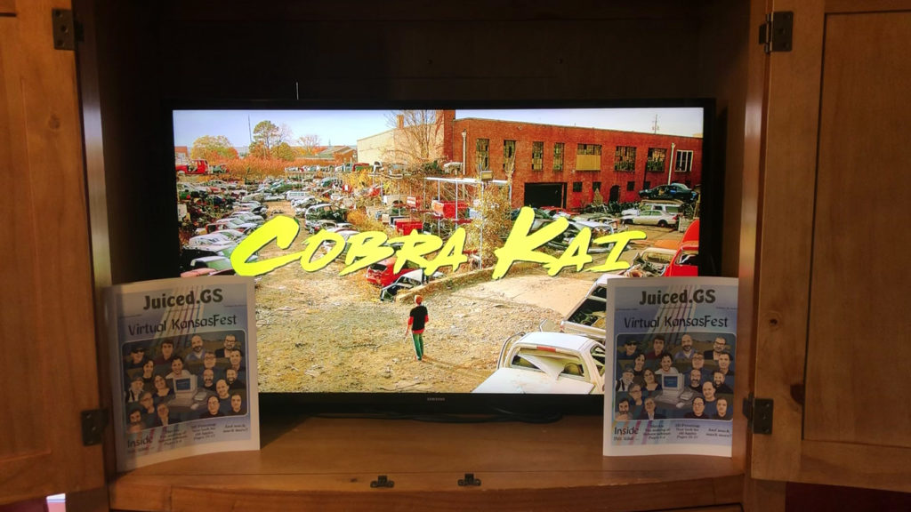 Title screen for Netflix series Cobra Kai