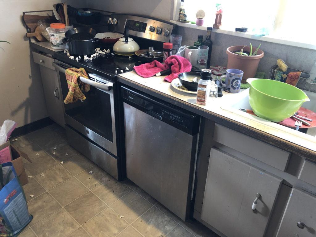 A filthy kitchen