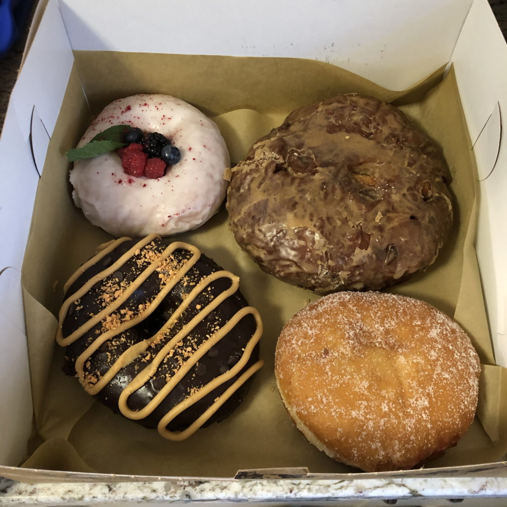 Four vegan donuts from Veera