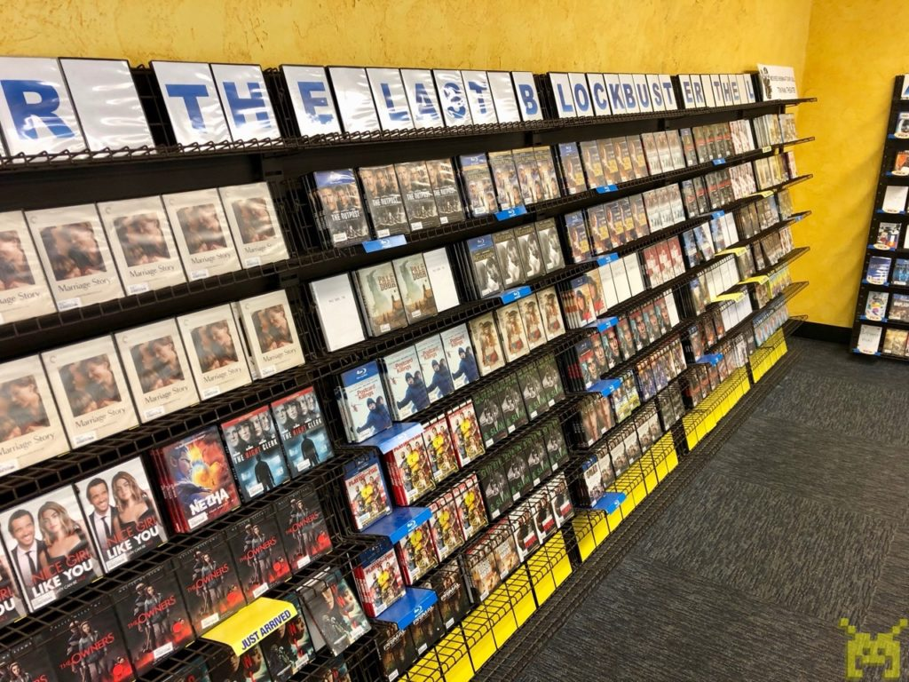 The new release wall with plenty of DVDs and Blu Rays