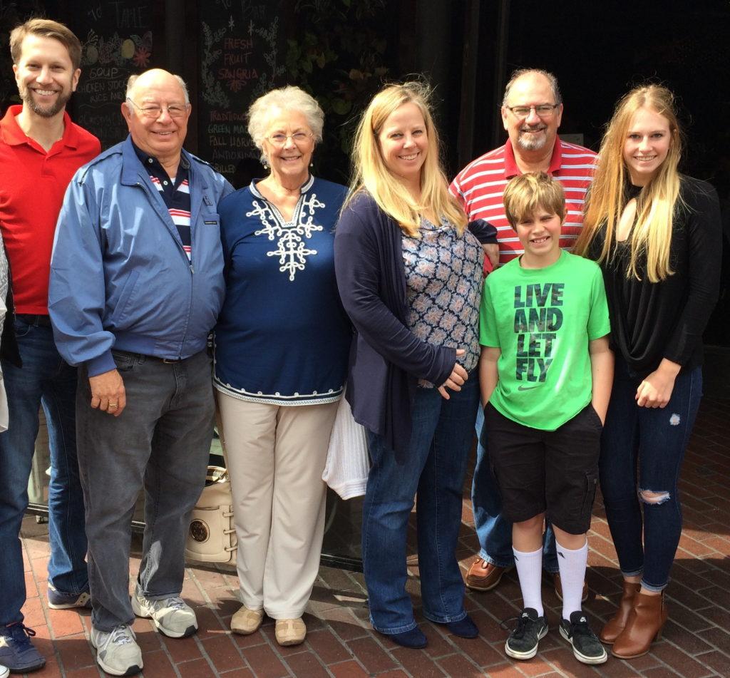 Ken with aunt, uncle, cousins